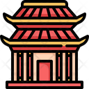 Shrine Temple Chinese New Year Icon