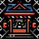 Shrine Temple Religion Icon