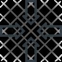Shrink Inwards Center Icon
