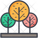 Trees Greenery Ecology Icon