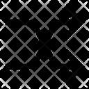Shuffle Exchnage Zigzag Icon