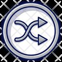Shuffle Button Music Icon