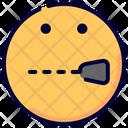 Shut Secret Emoji Icon