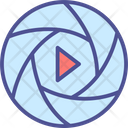 Shuttle With Play Button Icon