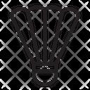 Badminton Sport Shuttlecock Icon