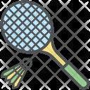 Shuttlecock Racket Badminton Icon