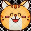 Shy Emoticon Cat Icon