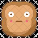 Shy Monkey Emoji Icon
