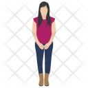 Shy Girl Icon