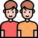 Sibling Brother Twin Icon