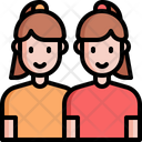 Sibling Sister Twin Icon