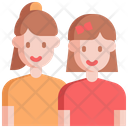 Sibling Sister Children Icon