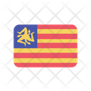 Sicily Flag Country Icon