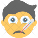 Sick Emoji Thermometer Icon