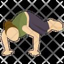 Side Crane Pose Icon