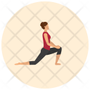Side Lunge Yoga Icon