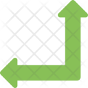 Side Angle Sign Icon