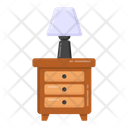 Side Table Lamp Icon