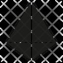 Sided Pyramid Icon