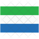 Flag Country Sierra Leone Icon