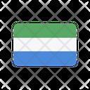 Sierra Leone Flag Country Icon