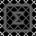Sigma Math Formula Icon