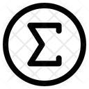 Sigma Symbol Edit Tool Icon