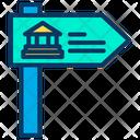 Museum Direction Board Direction Board Museum Direction Icon