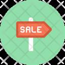 Sign Board Sale Icon