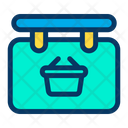 Sign Board  Basket Icon
