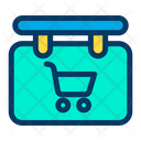 Sign Board Cart Icon