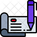 Sign Checkbook Icon