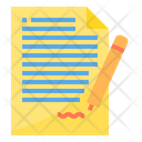 Sign Contact Contract Deal Icon