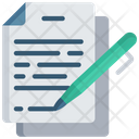 Sign Document Signature Note Icon