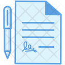 Sign Document Sign Deal Sign Paper Icon