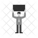 Sign Holder Human Icon