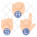 Sign Language Dumb Language Gesture Icon