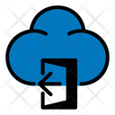 Sign Out Door Cloud Icon