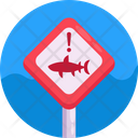 Sign Post Water Sports Danger Sign Icon
