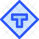 Map Navigation Sign Road T Icon