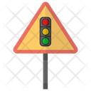 Signal Ahead Traffic Icon