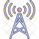 Communication Tower Hotspot Internet Access Point Icon