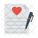 Signature Marriage Certificate Icon