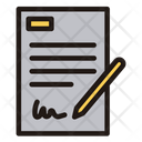 Signature Contract Agreement Icon