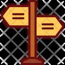 Sign Board Direction Board Roadsign Icon