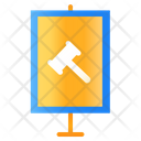 Sign Auction Poster Icon
