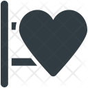 Signboard Heart Sign Icon