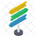 Signboard Road Board Road Flag Icon