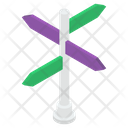 Signboard Road Board Road Flag Icon