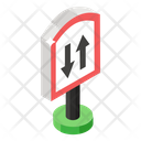 Road Sign Two Way Sign Road Symbol Icon